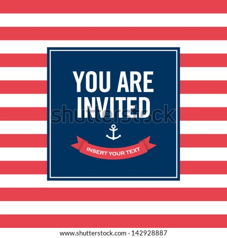 invitation card sailor theme