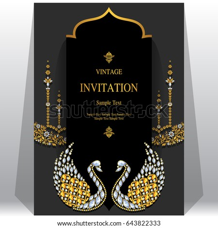 invitation card template with