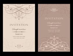 Invitation card vector design - vintage style