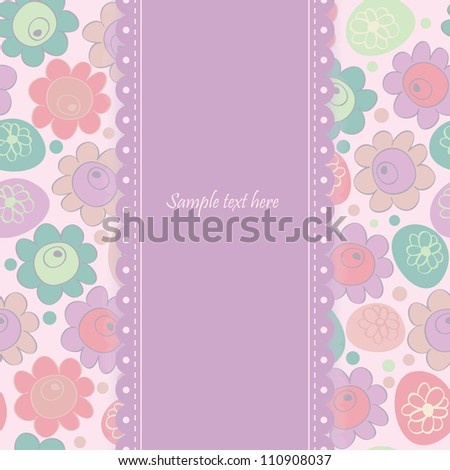 invitation card with abstract