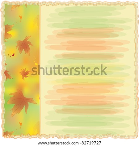 Invitation card with autumnal design