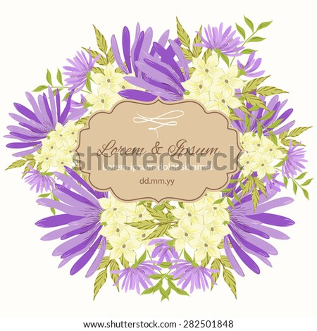 Invitation card with floral elements #282501848