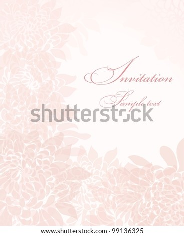 invitation cards with pink