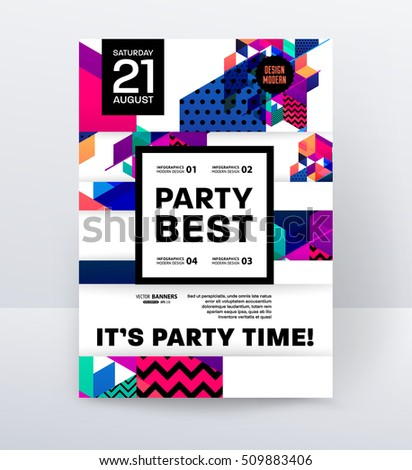 invitation disco party poster
