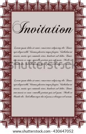 Invitation. Easy to print. Nice design. Detailed.