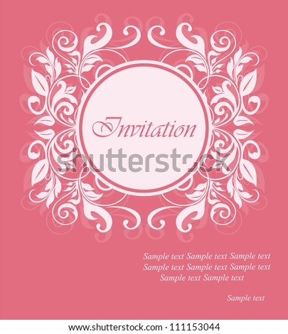 Invitation floral card.