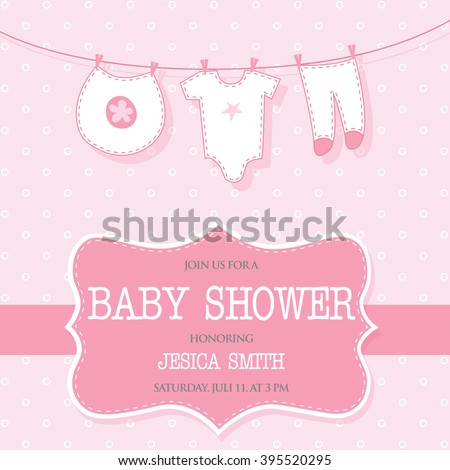 invitation for cute baby girl