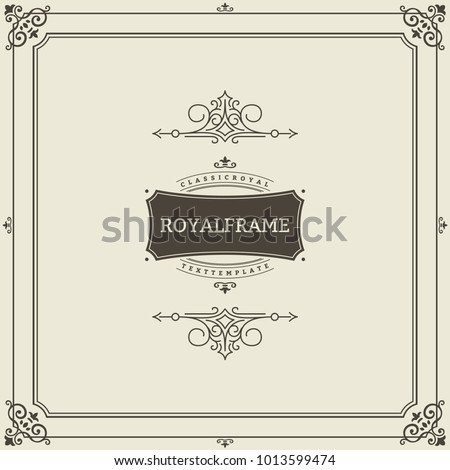 stock-vector-invitation-frame-vintage-ornament-greeting-card-vector-template-retro-wedding-invitations