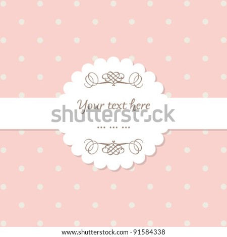 Invitation, Greeting Card with pink stripes - vector EPS10