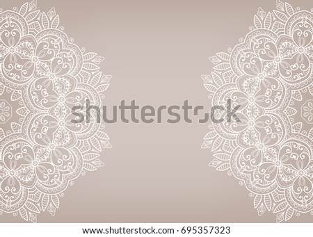 Wedding floral lace pattern vector download free vector art stock invitation or card template with mandala border element floral geometric lace pattern decorative abstract stopboris Gallery
