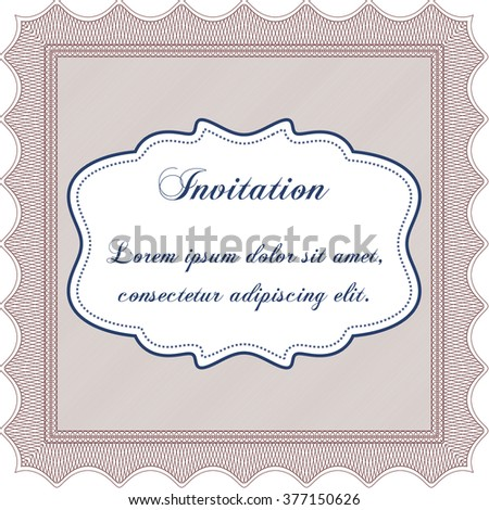 Invitation template. Detailed. Easy to print. Cordial design.