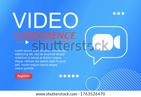 Invitation to a video conference. Online meetings
