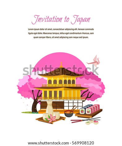 invitation to japan concept
