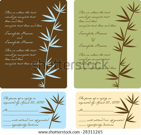 stock vector Invitation use for wedding invitation bridal shower