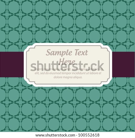 Invitation vector card