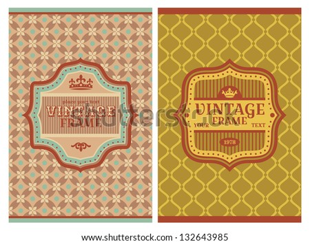 Invitation vintage retro cards vector illustration