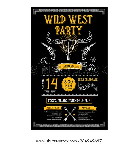 invitation wild west party