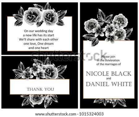 Invitation with floral background