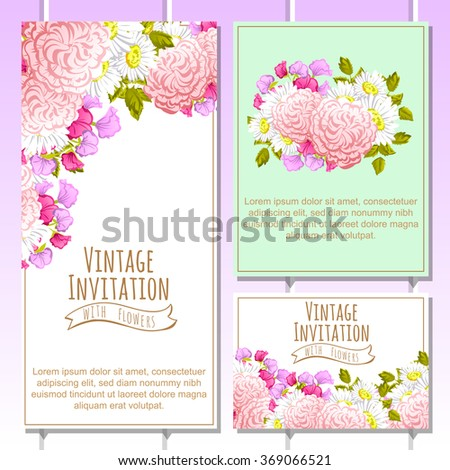 Invitation with floral background #369066521