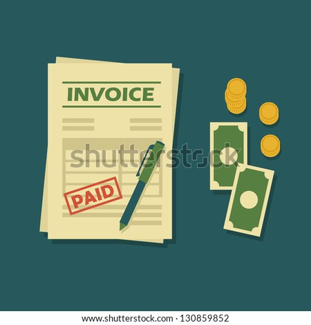 Invoice - stock vector