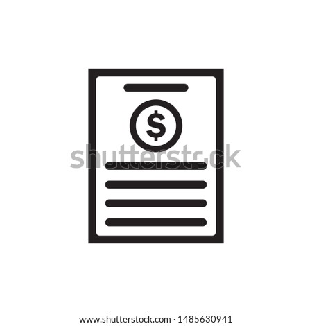 Invoice bill icon vector. Bill payment icon illustration. Simple design on white background.