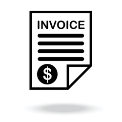 Invoice icon vector.bill icon vector.