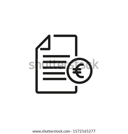 Invoice thin line icon. Bill, payment, document, tax isolated outline sign. Digital purchase concept. Vector illustration symbol element for web design and apps. Foto stock ©