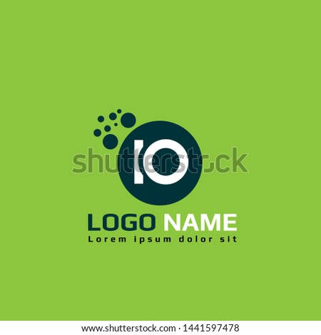 IO logo template. IO company linked letter logo concept. Designed for your web site design, logo, app, UI.IO initial logo design. corporate or identity logotype.