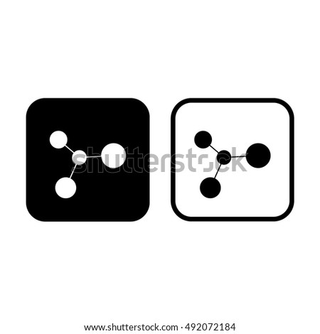 Ion icon vector illustration. Black and white