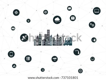 iot city icon
