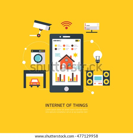 IOT (Internet of Things) flat illustration