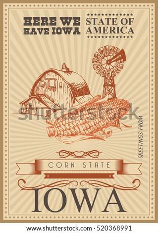 iowa vector card united states