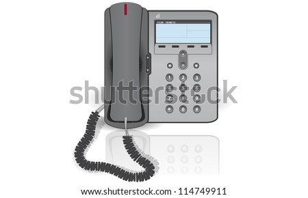 ip phone on a white background - stock vector