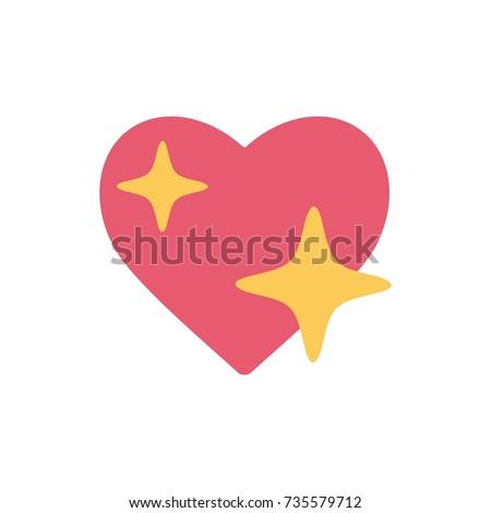 iphone shine heart emoji sign