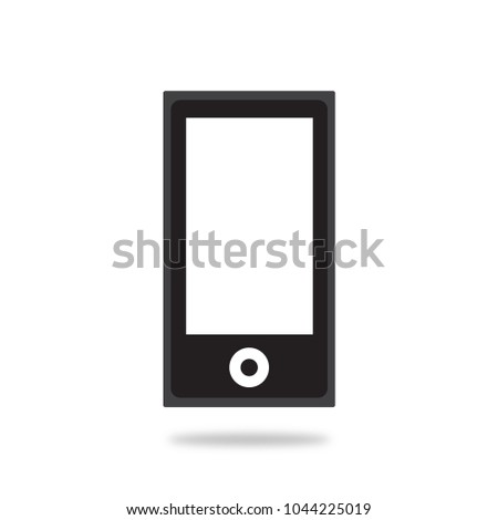 iPod Apple Music Player Vector Icon. flat style. isolated. black.