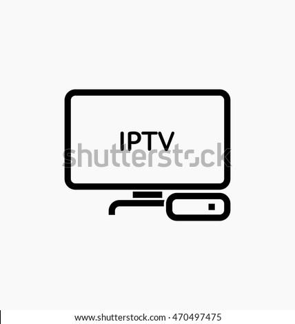IPTV vector icon. TV box sign. Internet Protocol TV symbol - IPTV.