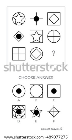 Vector Images, Illustrations and Cliparts: IQ test  Choose