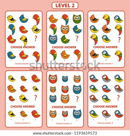 IQ test. Set of tasks for the development of logical thinking of children. Difficulty level 2. Set of logical tasks on the theme of transport. Vector illustration