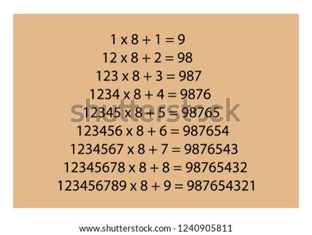 IQ training. Memory training. Interesting mathematical regularity. Vector illustration.