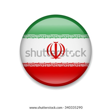 iran button flag