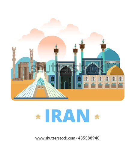 iran country design template