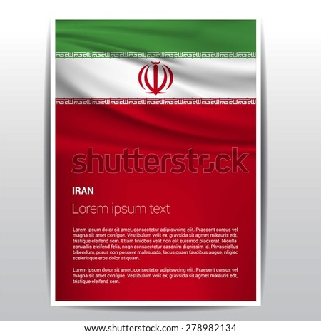 iran flag brochure   vector