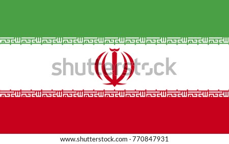 iran flag  official colors and