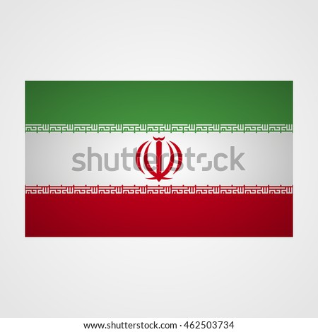 iran flag on a gray background