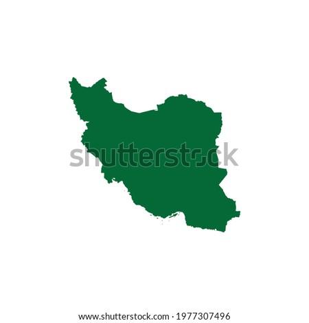 Iran Map. Iran Map Vector. Iran country map EPS Stockfoto ©