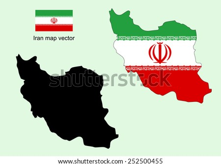 iran map vector  iran flag