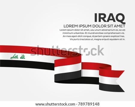 iraq flag background