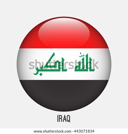 iraq flag in circle shape