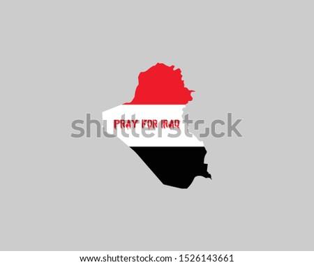 Iraq Flag Logo, Pray for Iraq, Iraq is Bleeding