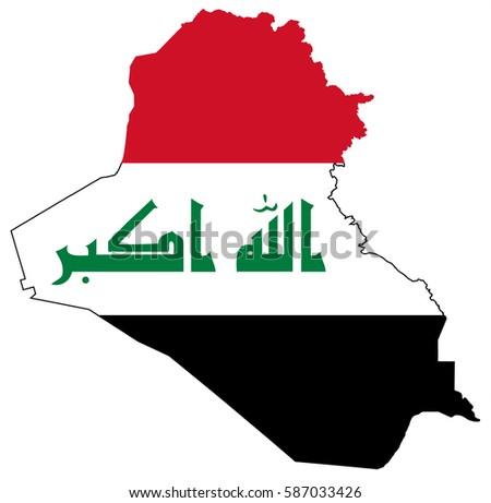 iraq flag map